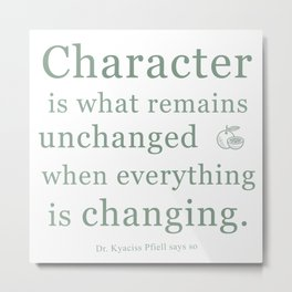 'Character' by Dr. Kyaciss Pfiell Metal Print