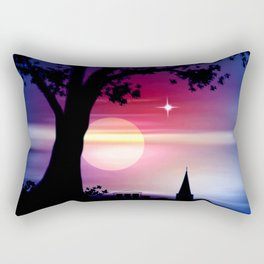 Roter Horizont. Rectangular Pillow