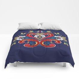 Scandinavian Rosemaling II Comforters