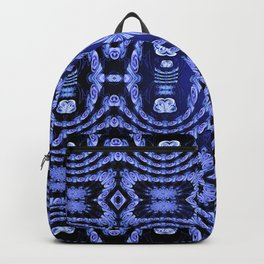 Indigo Lavender Glossy Floral Pattern Backpack