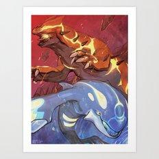 Omega Ruby & Alpha Sapphire Art Print