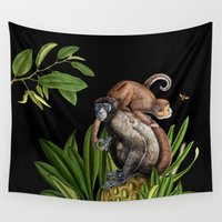 monkey Wall Tapestries featuring Monkey by Fifikoussout