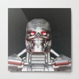 Me, Robot Metal Print