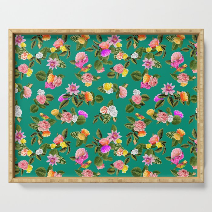 Frida Floral Serving Tray