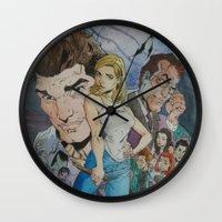 buffy Wall Clocks featuring Buffy and the vampire by PaulysVoice
