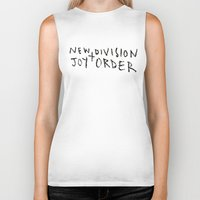 joy division Biker Tanks featuring New Division + Joy Order by StellaDays