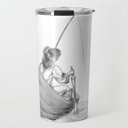 man fishing Travel Mug