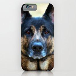 Regal German Shepherd iPhone Case