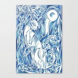 Cat By Moonlight - Persephone Canvas Print
