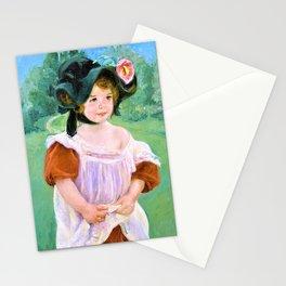 12,000pixel-500dpi - Mary Stevenson Cassatt - Childhood in a Garden - Digital Remastered Edition Stationery Cards