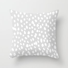 Dalmatian in White and Gray Throw Pillow