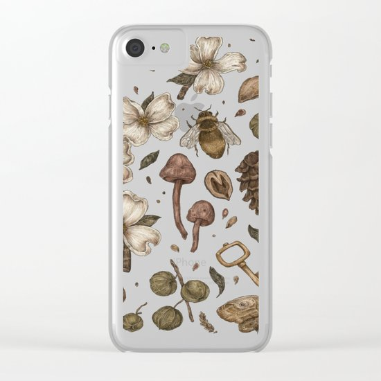 Nature Walks (Light Background) Clear iPhone Case