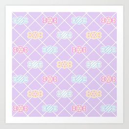 Candy Pattern Art Print