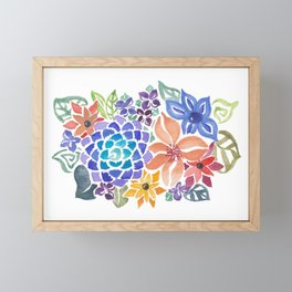 August Bouquet Framed Mini Art Print