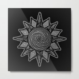 Goth Sun on Black Metal Print