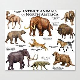 Extinct Animals of North America Canvas Print