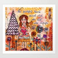 Her Grateful Heart Art Print