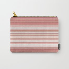 Spring Pastel Peach Pink Stripes Design Carry-All Pouch