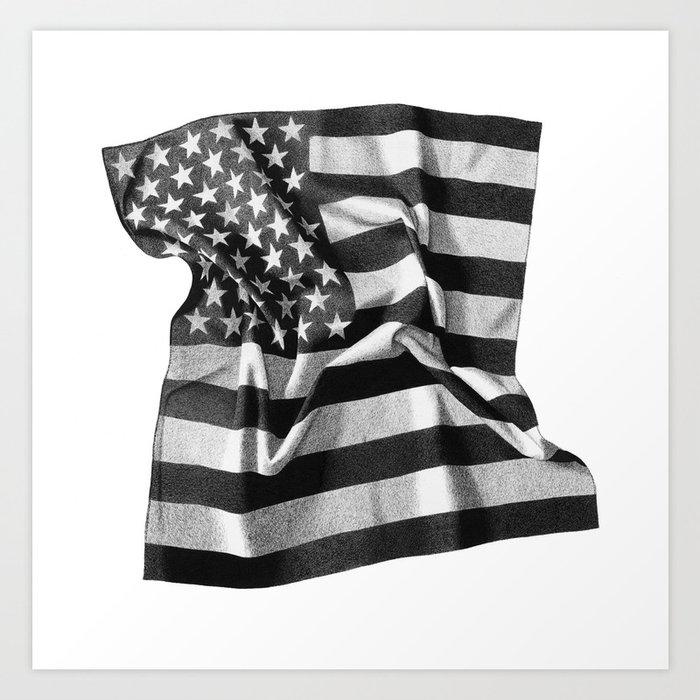 Flag Bandana Art Print