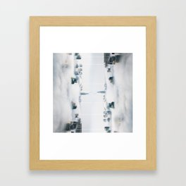 City surreal reflection Framed Art Print