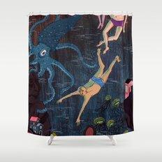 Swim Meet Shower Curtain