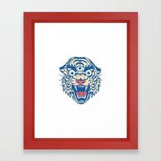 Third Eye Tiger Flash Framed Art Print