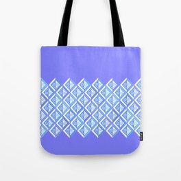 Diamond Graphic in Blues Tote Bag