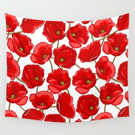 cute red poppies Wall Tapestry