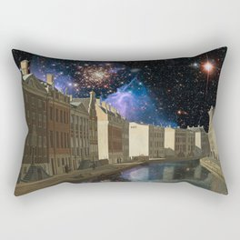 Space Time Continuum with Gerrit Adrieansz Rectangular Pillow