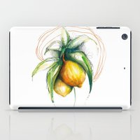lemon iPad Cases featuring Lemon by Alejandra Lara