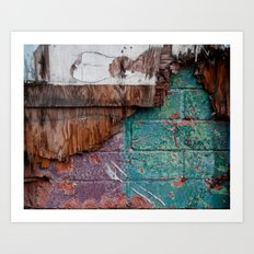 Cracks in Colour Art Print