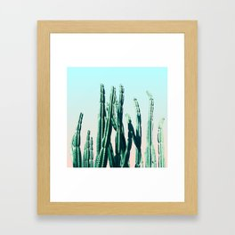 Green Cactus 10 Summer Framed Art Print