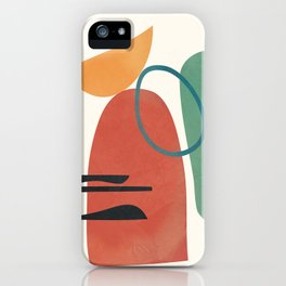 Minimal Abstract Shapes No.41 iPhone Case