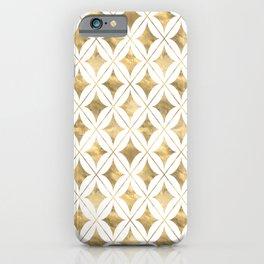 Gold Diamond Pattern iPhone Case