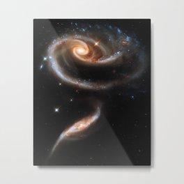 Galaxy Rose Peach Metal Print