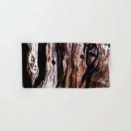 Ancient olive tree wood close-up Hand & Bath Towel