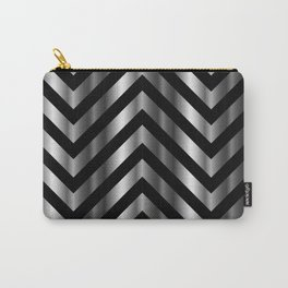 High grade raw material stainless steel and black zigzag stripes Carry-All Pouch