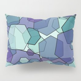 Converging Hexes - teal and purple Pillow Sham