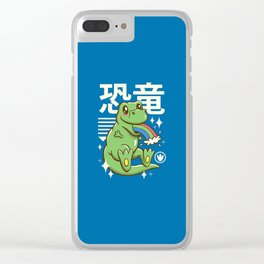 Kawaii T-Rex Clear iPhone Case