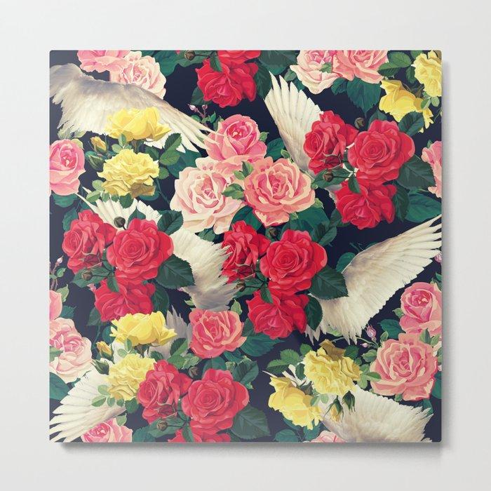 roses wings, tropical  Metal Print