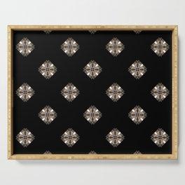 Simulated illuminated diamond pattern Serving Tray