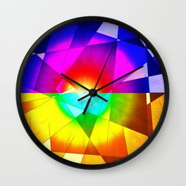 lined color flash forms and shapes attack Wall Clock