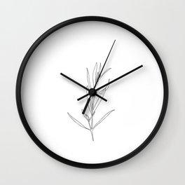 Plant sprig illustration - Rosemary  Wall Clock