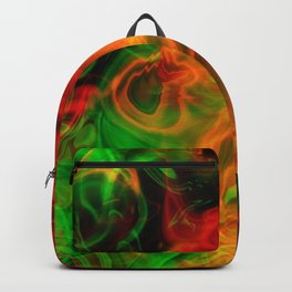 Green and Fire Backpack