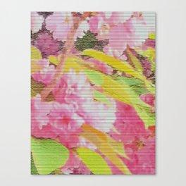 cherry blossom tiles Canvas Print