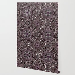 Pink Mosaic Window Mandala Wallpaper