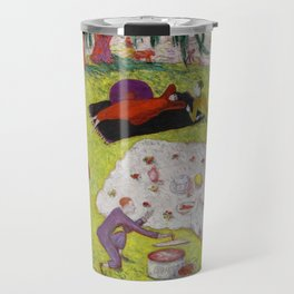 "Florine Stettheimer ""Picnic at Bedford Hills"" Travel Mug"