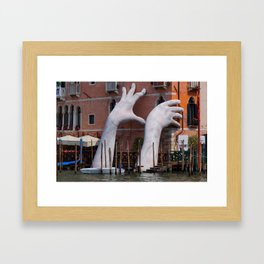 Venice hands Framed Art Print