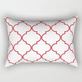 Quatrefoil - Rose Red Rectangular Pillow
