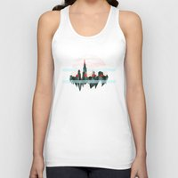 chicago Tank Tops featuring Chicago by black out ronin